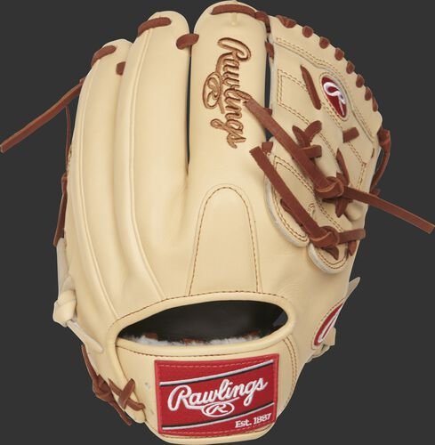 PROS205-9CC Pro Preferred 11.75-inch infield/pitcher's glove with a camel kip leather back
