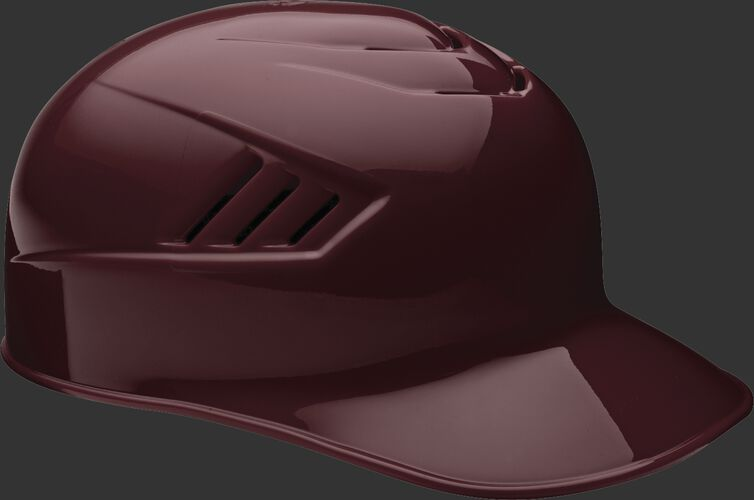 A maroon CFPBH Coolflo adult base coach helmet with Coolflo vents