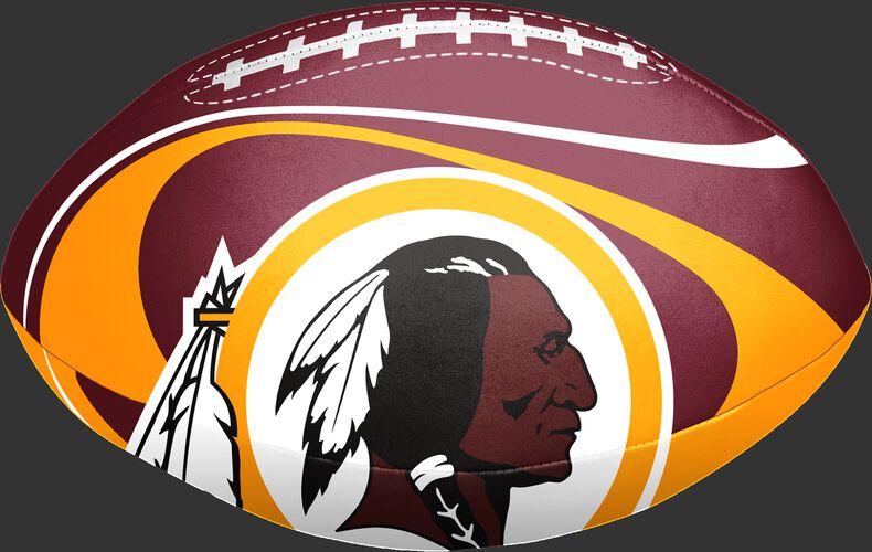 """An 8"""" Washington Redskins softee football with the Redskins logo - SKU: 07861087111"""