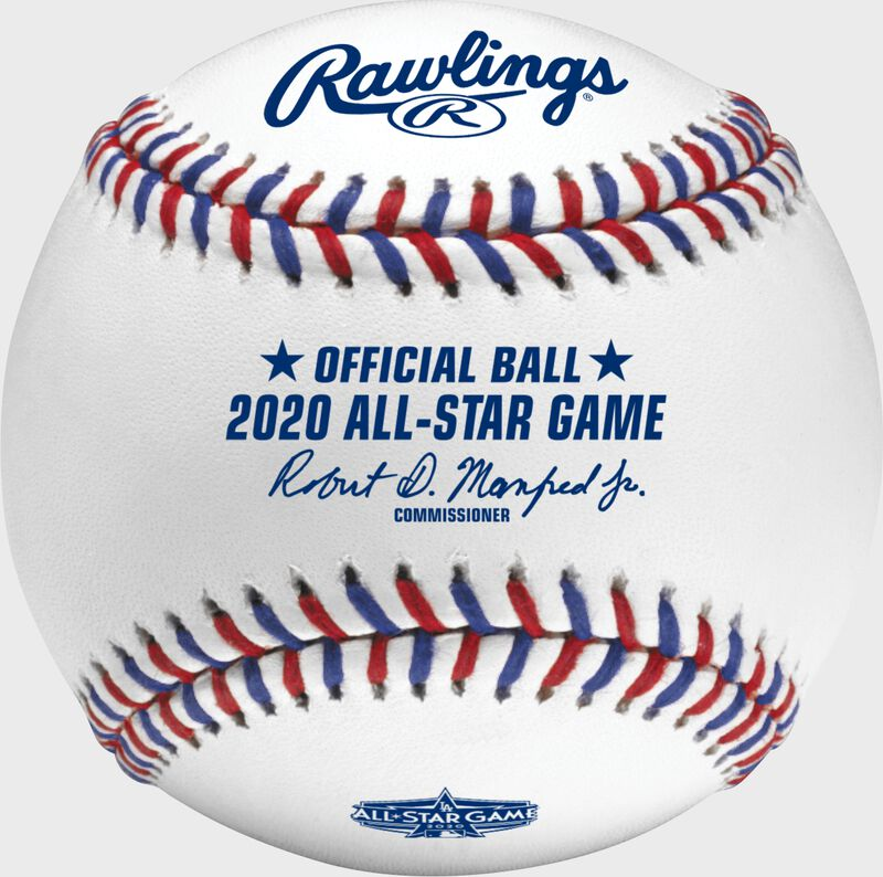 A MLB 2020 All-Star game baseball with the commissioner's signature - SKU: ASBB20-R