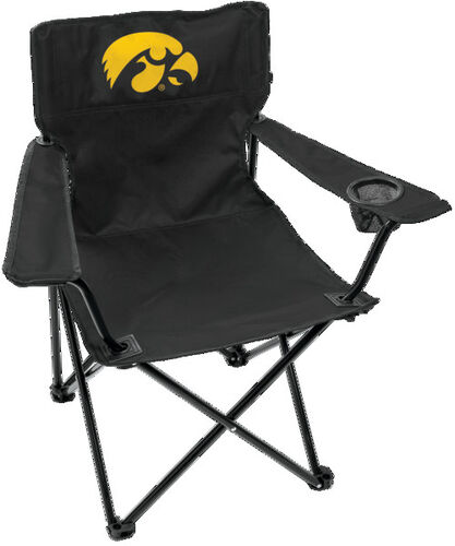 Front of Rawlings Black NCAA Iowa Hawkeyes Gameday Elite Chair With Team Logo SKU #00563075111