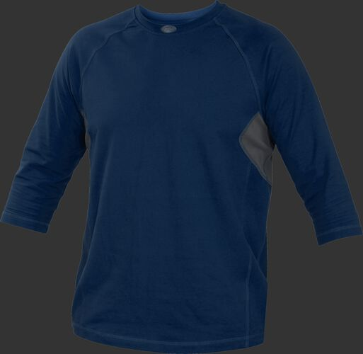 Adult 3/4 Length Sleeve Shirt Navy