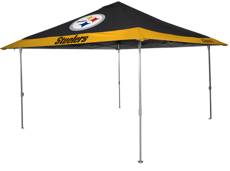 NFL Pittsburgh Steelers 10x10 eaved canopy in team colors