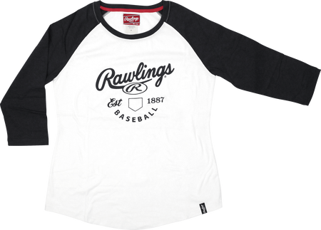 Women's EST Raglan Rawlings Baseball T-Shirt