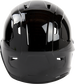 Back of a black Rawlings Mach lefty helmet - SKU: MSE01A-LHB image number null