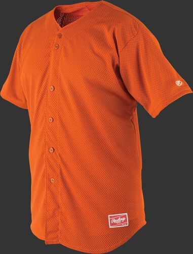 Front of Rawlings Burnt Orange Adult Short Sleeve Jersey  - SKU #RBJ167