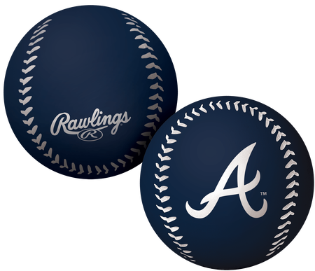 A navy Atlanta Braves Big Fly bounce ball