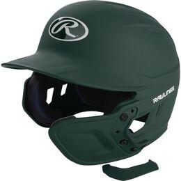Mach EXT Batting Helmet Extension For Left-Handed Batter Dark Green