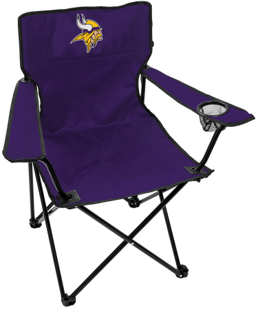 Front of Rawlings Purple NFL Minnesota Vikings Gameday Elite Chair With Team Logo SKU #00551075111