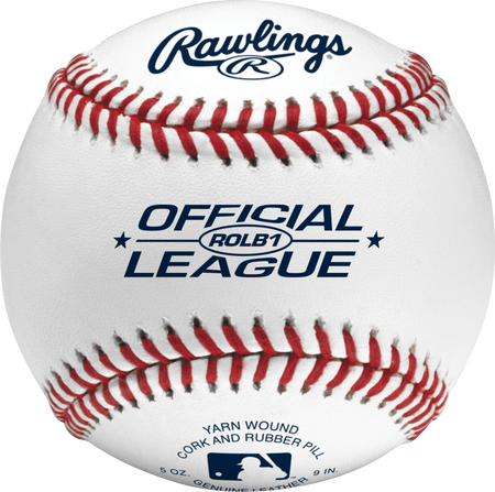 ROLB1 Official League youth baseball with raised seams
