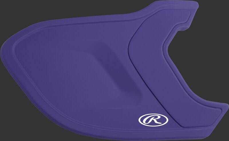 A matte purple MEXTR Mach EXT batting helmet extension for right-handed batters
