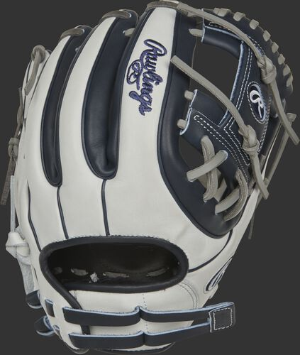 RLA715SB-2N 11.75-inch Liberty Advanced I-web glove with a white back, navy finger stalls and adjustable pull strap