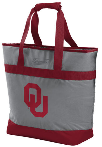 Rawlings Oklahoma Sooners 30 Can Tote Cooler In Team Colors With Team Logo On Front SKU #07883045111
