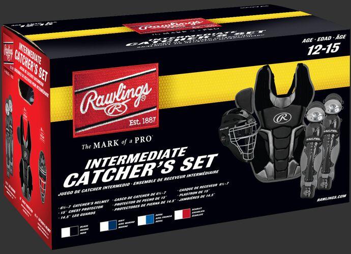 Box of an intermediate RCSNY Renegade intermediate Renegade 2.0 catcher's gear set