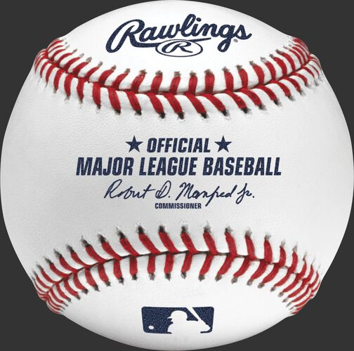 A ROMLB Official Baseball of MLB with the stamped commissioner's signature