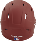 Back of a cardinal MACH high performance helmet with the Official Batting Helmet of MLB logo image number null