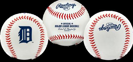 3 views of a MLB Detroit Tigers baseball