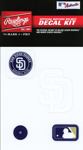 Rawlings MLB San Diego Padres Decal Kit With Team Logos and MLB Logo SKU #3MLBDC-SD