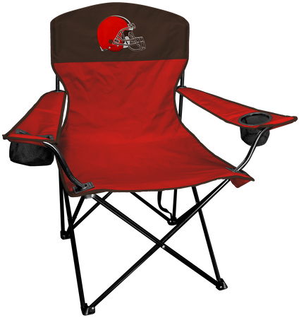 NFL Cleveland Browns Lineman chair with team colors and logo on the back
