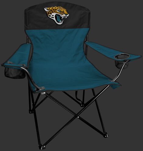 Front of Rawlings Teal and Black NFL Jacksonville Jaguars Lineman Chair With Team Logo SKU #31021091111
