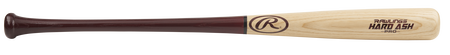 C271HA Hard ash wood bat with a natural wood barrel and red handle