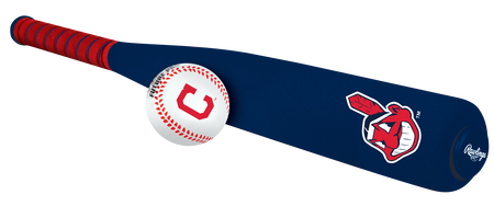 MLB Cleveland Indians Foam Bat and Ball Set