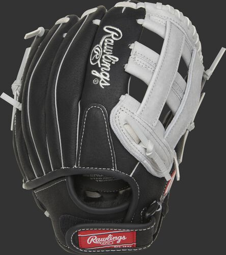 SC110BGH 11-inch Sure Catch H-web glove with a black back and Velcro strap back