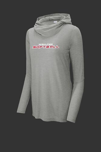 A gray Rawlings softball lightweight performance hoodie - SKU: RSGLWH-G