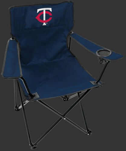 Front of Rawlings Navy Blue MLB Minnesota Twins Gameday Elite Chair With Team Logo SKU #06110028111