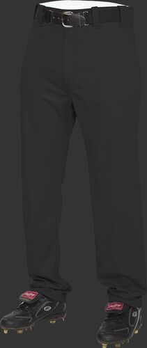 Front of Rawlings Black Youth Semi-Relaxed Pant - SKU #YP31SR
