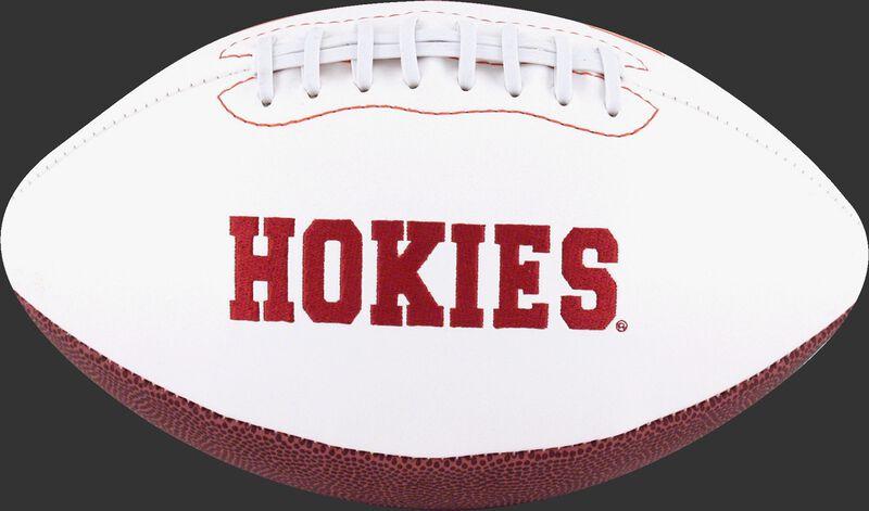 White NCAA Virginia Tech Hokies Football With Team Name SKU #05733111121