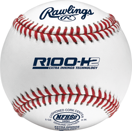 R100-H2 NFHS Official High School baseball with NFHS logo