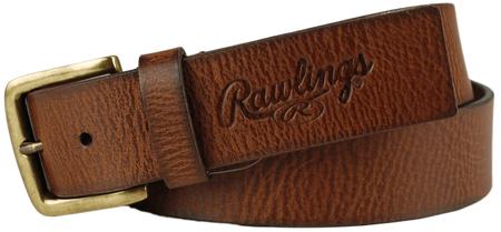 Buff Tipped Tan Leather Belt