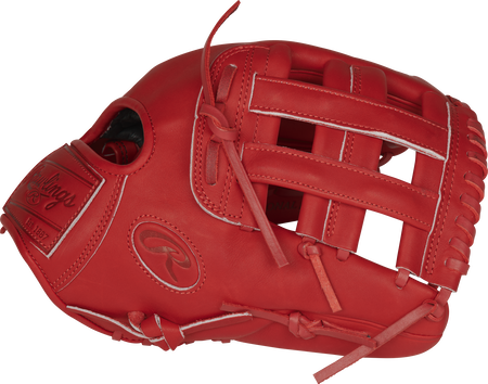 Thumb of a scarlet PROKB17-6S Heart of the Hide Pro Label 12.25-Inch glove with a scarlet H-web