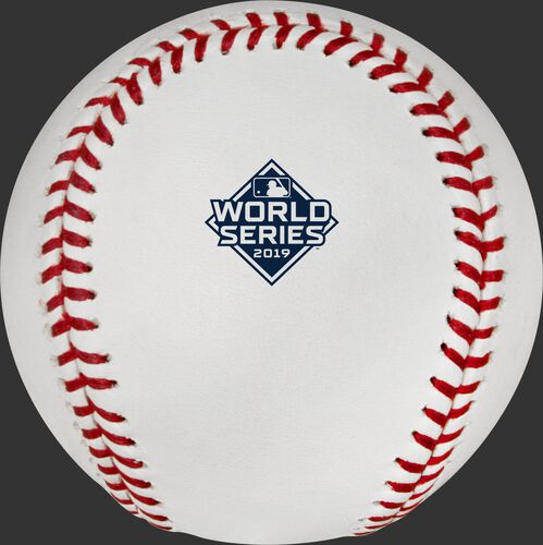 2019 World Series logo on the WSBB19 MLB 2019 World Series baseball