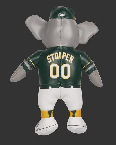 Back of Rawlings MLB Oakland Athletics Mascot Softee With Green Team Jersey and Mascot Name Stomper SKU #03770003111