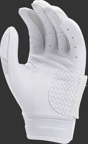 White palm of a white FPWPBG Rawlings Workhorse women's batting glove