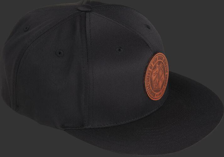 Side of a black RWLPH Rawlings black hat