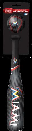 MLB Miami Marlins Slugger Softee Mini Bat and Ball Set