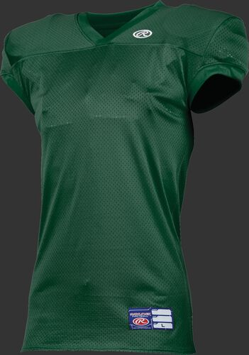 Youth Game/Practice Football Jersey Dark Green