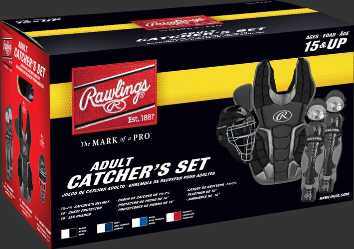 Box of a RCSNA Renegade adult Renegade 2.0 catcher's gear set