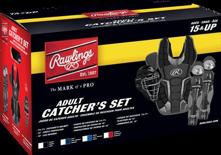 Box of a RCSNA Renegade adult Renegade 2.0 catcher's gear set