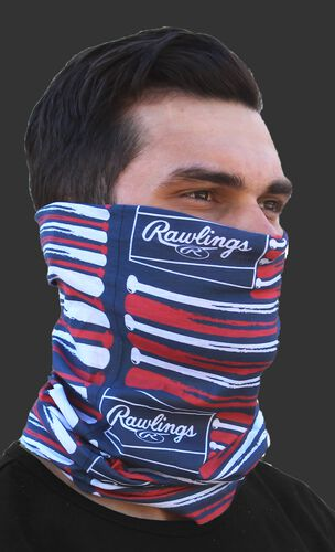 Rawlings Adult Multi-Functional Head and Face Gear | Flag & Bats