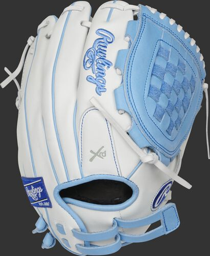 RLA120-3CB 12-Inch Liberty Advanced infield/pitcher's basket web glove with a white back and adjustable pull-strap