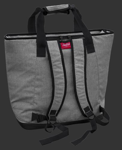 Back of a Atlanta Falcons tote cooler with backpack straps - SKU: 10311060111