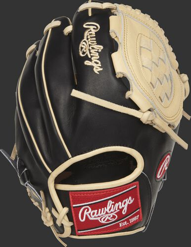 PROR210-3BC 10.75-inch Rawlings Heart of the Hide R2G glove with a black back
