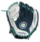 A navy/white Rawlings Seattle Mariners youth glove with a Mariners logo stamped in the palm - SKU: 22000015111 image number null