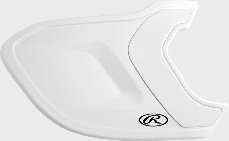 A matte white MEXT Mach EXT batting helmet extension