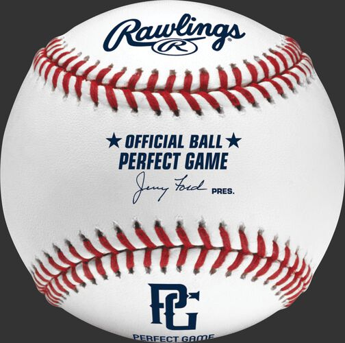 PGUB Perfect Game baseball with the PG logo