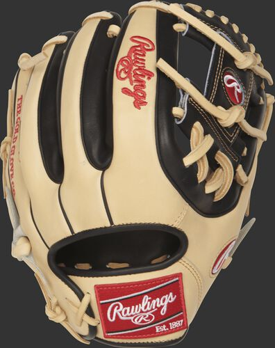 PRO314-2CB Heart of the Hide 11.5-inch I web glove with a camel back and black dual-welting